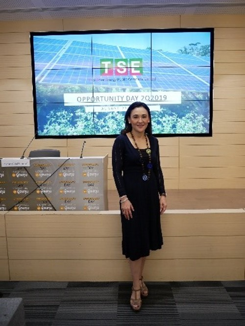 """""""TSE attended in the Opportunity Day 1Q2019 presenting revenew growing over 100%"""""""